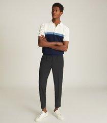 reiss christie - colour block polo shirt in navy, mens, size xxl