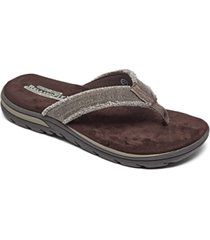 skechers men's relaxed fit supreme - bosnia thong sandals from finish line