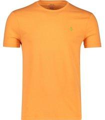 ralph lauren t-shirt custom slim fit oranje