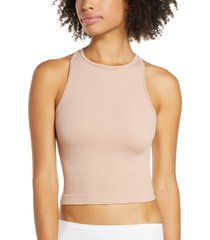 free people hayley racerback brami crop top, size x-small in pink at nordstrom