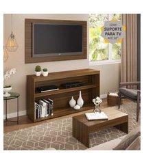 """rack com painel e suporte para tv até 50"""" com mesa de centro atualle multimóveis duna"""