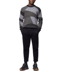 boss men's awils relaxed-fit knitted sweater