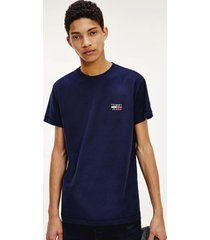 polera de algodón orgánico con logo azul tommy jeans