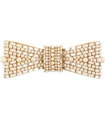 dolce & gabbana broche de laço com aplicações - dourado