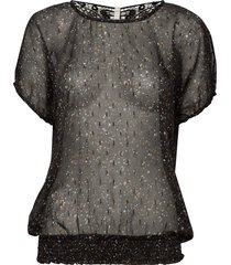 pzplanet blouse blouses short-sleeved svart pulz jeans