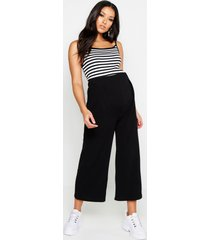 maternity over the bump culottes, black