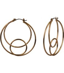 """style & co gold-tone medium looped double hoop earrings, 1.75"""", created for macy's"""