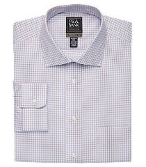 travel tech collection tailored fit spread collar grid shirt, by jos. a. bank