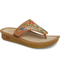 alegria by pg lite alegria 'vanessa' thong sandal, size 6-6.5us in chrysalis cognac leather at nordstrom