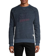 long-sleeve cotton-blend sweatshirt