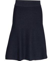 d1. knitted skirt knälång kjol blå gant