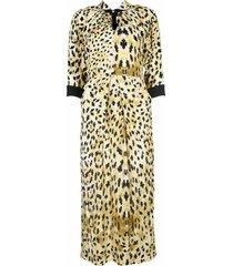 animal pattern long dress