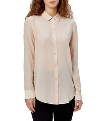 women's equipment essential solid silk blouse, size x-small - pink