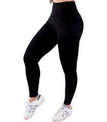 calça legging suplex 4 estações cós alto liso feminino preto