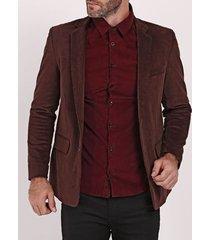 blazer veludo calcuta masculino marrom