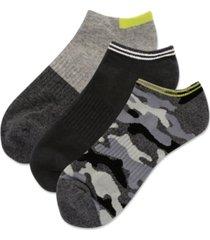 hot sox men's 3-pk. camo half cushion low cut socks