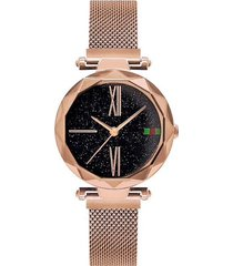 reloj lujo mujer moda casual pulso acero 239 dorado rosa