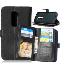 lg g2 case,xyx [kickstand] lg g2 black case,[built-in 9 credit card slots][flip]