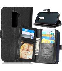 lg g2 case,xyx [kickstand] lg g2 black case,[built-in 9 credit card slots][flip]