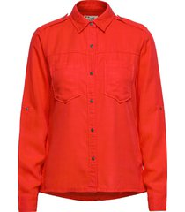 workwear inspired shirt in drapy quality overhemd met lange mouwen rood scotch & soda
