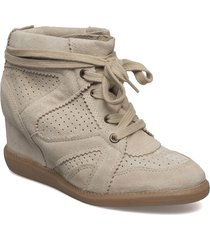 vibe shoes boots ankle boots ankle boot - heel beige pavement