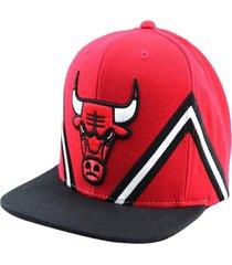 gorro nba chicago bulls negro rojo mitchell and ness