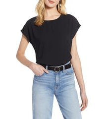 women's halogen cap sleeve blouse, size xx-large - black