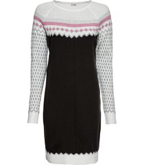 abito in maglia jacquard (bianco) - bodyflirt boutique