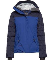 kilta w dx warm ski jacket gevoerd jack blauw halti