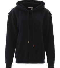 see by chloé hoodie with guipure