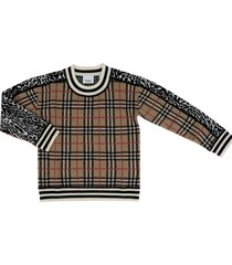 knit leopard top-wear