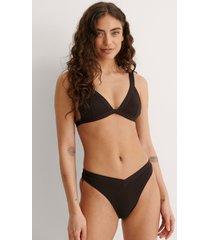 na-kd swimwear högt skuren bikinitrosa - brown