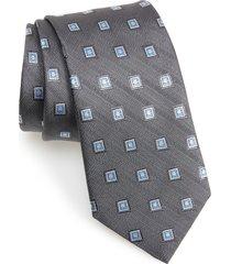 men's david donahue geometric woven silk tie