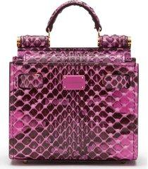 dolce & gabbana micro sicily 58 tote bag - pink