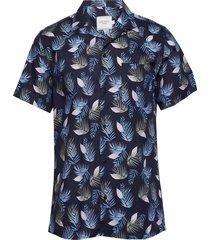 polynesia shirt overhemd met korte mouwen blauw les deux