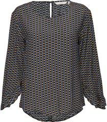 nuailish shirt blus långärmad blå nümph
