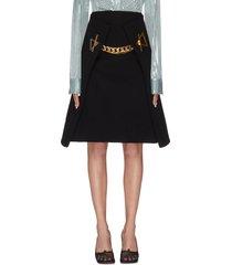 a-line chain detail skirt