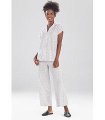 natori mini vines sleepwear pajamas & loungewear set, women's, cotton, size l natori
