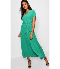 maxi-jurk in wikkelstijl, groen