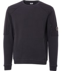 c.p company embrized jersey crew neck sweatshirt - navy mss164a-5283 888