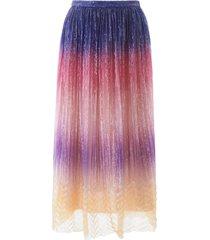 marco de vincenzo pleated sequins skirt