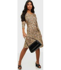calvin klein print 3/4 slv jersey dress loose fit dresses