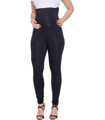 calça legging a gestante viscolycra cós alto preto - kanui