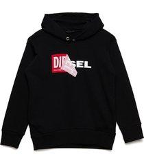 salby over sweat-shirt hoodie trui zwart diesel