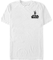 fifth sun star wars men's han solo pocket logo short sleeve t-shirt