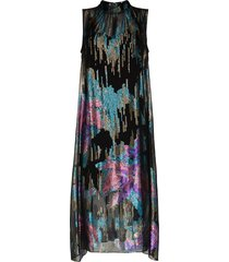 peter pilotto sequinned sleeveless midi dress - blue