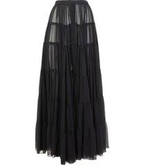 amen tiered maxi skirt