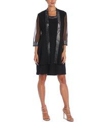 r & m richards petite embellished dress & jacket