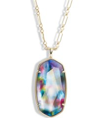 women's kendra scott reid long faceted pendant necklace