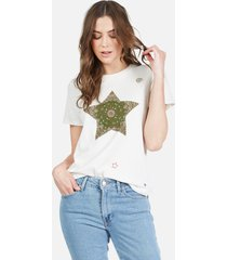 croft bandana star - l faded white